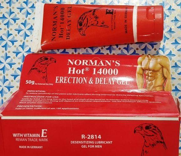 Norman Hot 14000 Erection n Delay gel